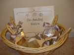 de-sander basket for beach wedding