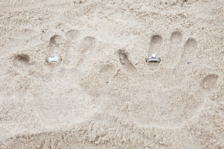 wedding - sand hand prints