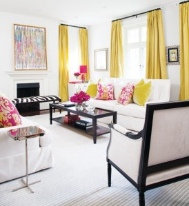 Yellow window treatments