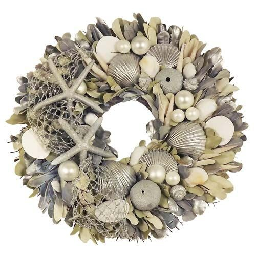 Assorted Shell Christmas Wreath from Blue Barnacles