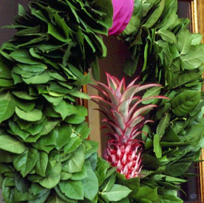 Tropical Pineapple Christmas Wreath from Coastal Living
