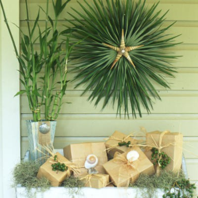Palm Frond Christmas Wreath