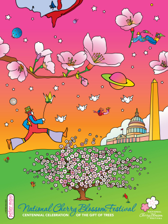 Official National Cherry Blossom 2012 Poster by Peter Max