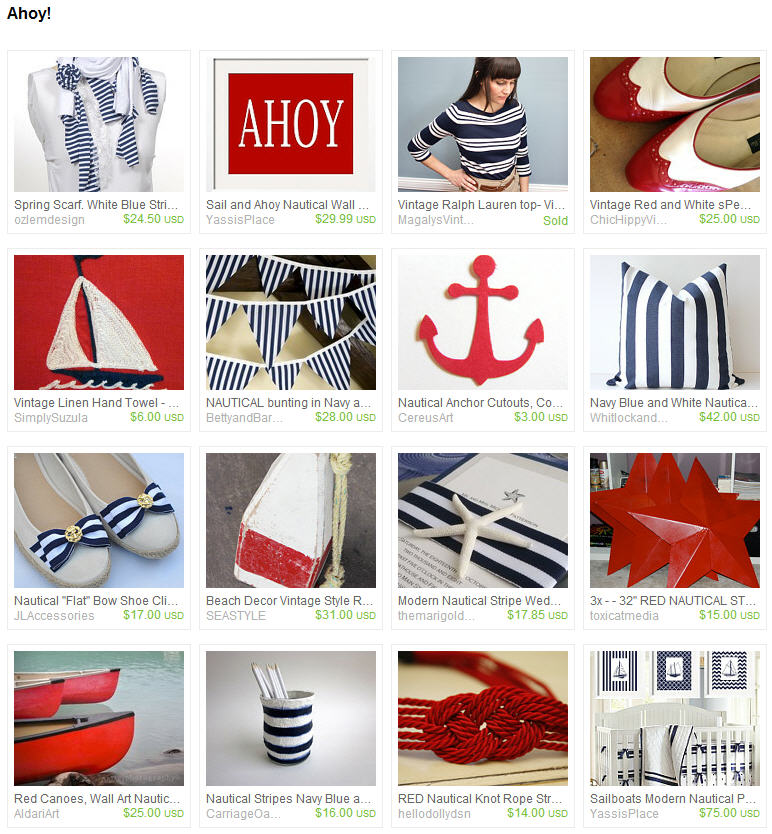 Nautical Anchor Paper Cutouts Featured in Etsy Treasury