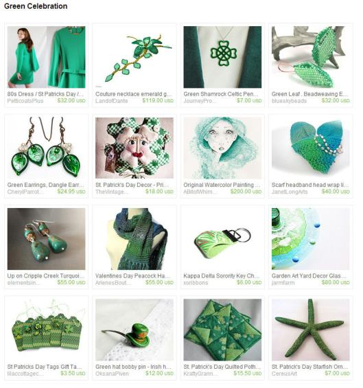 green celebration - cereusart green starfish